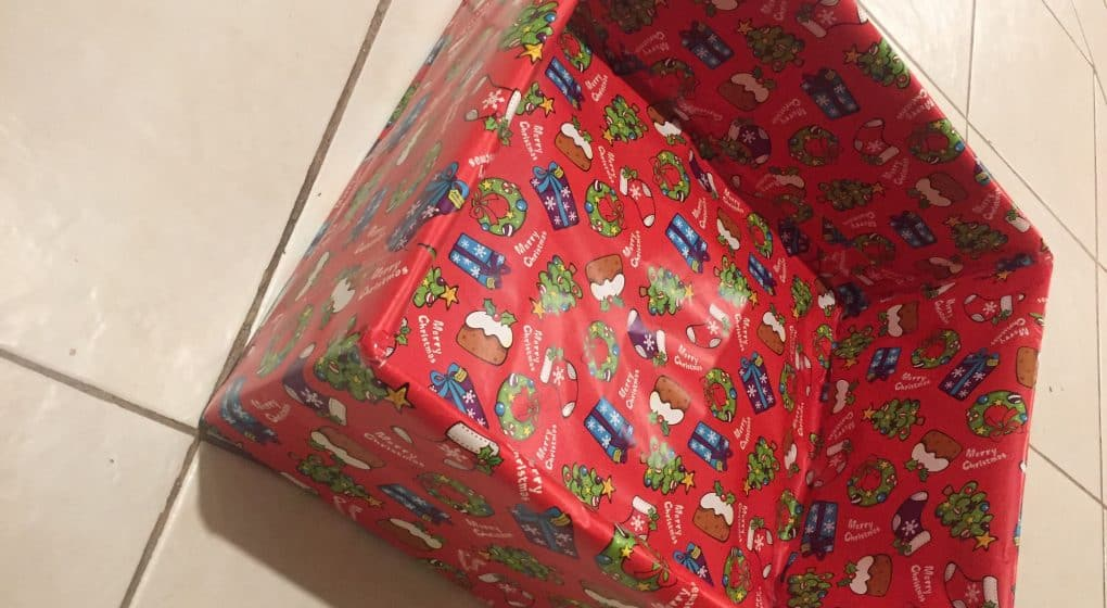 Christmas Wrapping Paper Box
