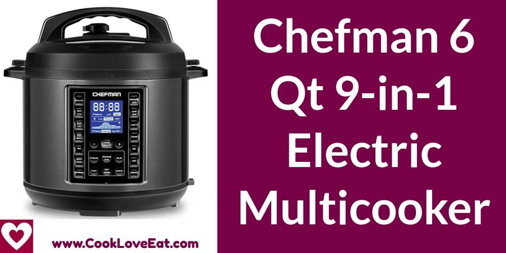 Chefman 6 QT 9-in-1 Electric Multicooker